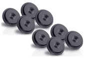 Oehlbach Washer 20 / Washer for Spikes 8 Piece in Black