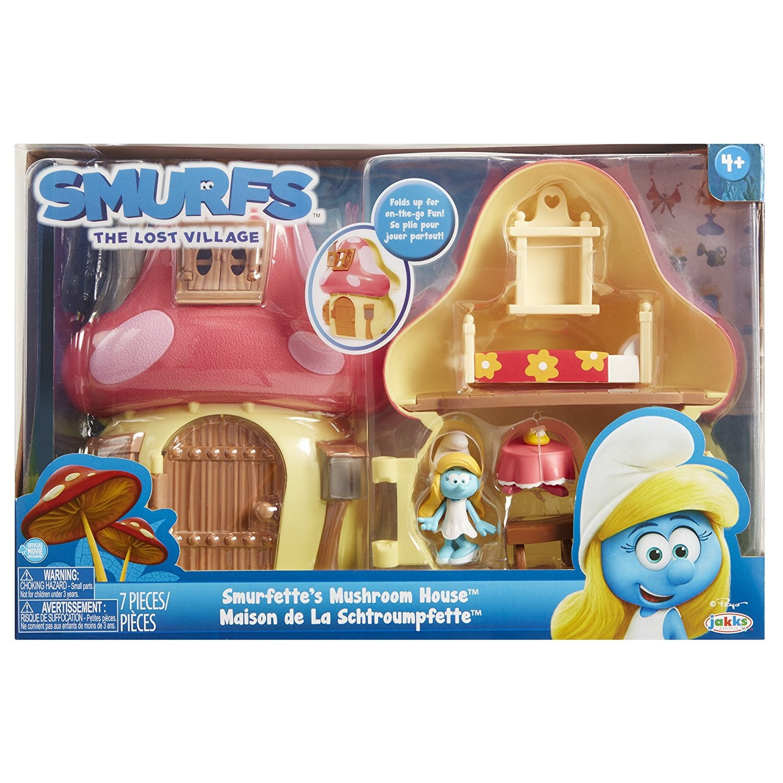 Smurfs 96571-EU Mushroom House Playset with Smurfette
