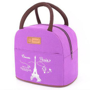 Muitifunction Cute Canvas Bento Lunch Bag for Picnic Travel Tote Lunch Bag with Zipper Stylish