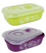 Food Containers Storage Container Microwave Containers Rectangular 3 Litres Set of 2