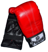 Phenom Muay Thai Training Glove High Quarity Cowhide Leather RED /Full Handmade by famous artisan