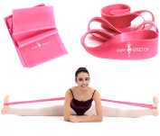 RubyStretch 2-in-1 Exercise Ballet Stretch Bands Set for Dance, Flexibility & Gymnastics – Resistance Band and Stretching Band Kit