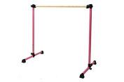 Vita Vibe B48-W Traditional Wood Portable Single Bar Ballet Barre - Freestanding Stretch/Dance Bar, 1.2m …