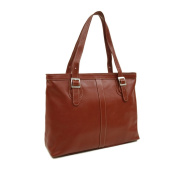 Piel Leather Ladies Laptop Tote, Red, One Size