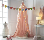 Truedays Dome Princess Bed Canopy Bed Curtain Mosquito Net Canopy for Baby Kids Reading Playing Indoor outdoor Games Children Room Decorate, Pink