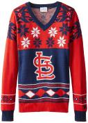 MLB Womens Big Logo V-Neck Sweater
