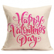 Covermason Lovers Couple Sweetheart Painting Linen Pillowcase Cover For Sofa Home Shop Decor 43X44cm