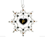 Shiney Silver Snowflake Ornament Sporting your Teams Colours