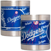 MLB Stainless Can Holder Set with Metallic Graphics