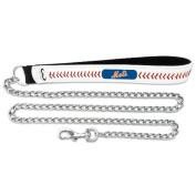MLB New York Mets Leather Chain Dog Leash