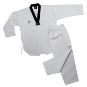 KOMAS Martial Arts Taekwondo Uniform with Black V, White