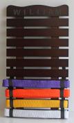 10 Level karate belt display rack/holder wall mount KR01