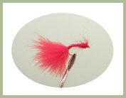 12 pack Bloodworm Nymph Fishing Flies. Mixed sizes 10-16