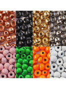 """20 x TUNGSTEN beads - 2.0mm - 5/64"""" (0,05g) - Choice of colours - for fly tying"""