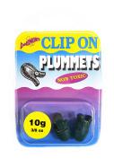 Dinsmores Non Toxic Clip on Plummet Sinker - Black, 10 g