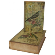 Antic Line - Set of 2 boxes with bird decor and flowers