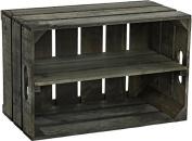 "new stabile Fruit Box box, Apple box, Wine box from the Altes Land Region Natur 54x35x30 cm - Jacaranda mit Central board""vertical"""