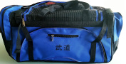 """Martial Arts bag with Mesh Top/ Poket, Boxing MMA Deluxe Equipment Bag, Black or Blue 33cm x 70cm x 14"""""""