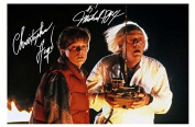 Back To The Future - Michael J Fox & Christoher Lloyd Signed Autographed A4 Photo Print Poster