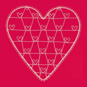 Vintage Heart Wire Cream Photo Holder/Memo Holder - LARGE