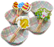 Easter Cupcake Party Pack - Easter Cake Cases & Pick Sticks