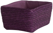 Compactor Home Storage Wheat Braid Hawai Basket, Plum