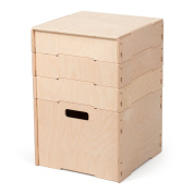 Unfinished Wood Stackable Art and Craft Storage Boxes with Compartments, American Made - By Sprout