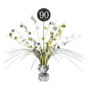 90th Birthday Spray Centrepiece Table Decoration   Age 90 Party Supplies