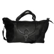 NBA Tan Leather Top Zip Travel Bag