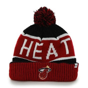 "47 Brand ""Calgary"" Cuff Beanie Hat with POM POM - NBA Eastern Conference Cuffed Knit Cap"