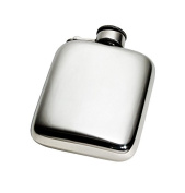 Wentworth Pewter - 120ml Plain Captive Top Pewter Pocket Flask