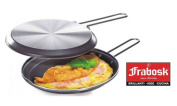 Frabosk aluminium double grill with non-stick coating for omelettes, hambrugers, grilled sandwuches, 24 cm