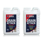Spear and Jackson Household Drain and Sink Cleaner Twinpack - 2 x 1 Litre