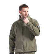 FREE SOLDIER Men Outdoor Tactical Softshell Hoodie Jacket Fleece Hunting Jacket