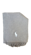 Men's Lambs Wool Solid Colour Scarf by Polo Ralph Lauren, Made In Italy