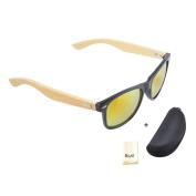 Piao-otd NEW Bamboo Wood Leg Sunglasses Mens Womens Retro Vintage with Polarised UV400 Lenses