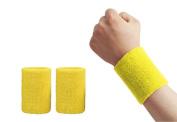 Lorsoul 10cm Cotton Sports Basketball Tennis Wrist Sweatband / Wristband Wrist Sweat band/Brace, Price/Pair