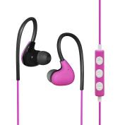 MAXROCK (TM) Stereo Sport Headphones with Microphone and Volume Control Over-ear Adjustable Earhook Design
