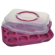 """Gies Party-Butler Cupcake """"Decoline"""" 38,5x29x9,5cm in Berry"""