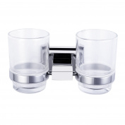Wall Mounted Drinking Glass Tumbler / Toothbrush Holder in Polished Chrome