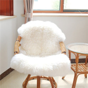 CALISTOUK Sheepskin Rugs, Soft Fluffy Faux Chair Cover Hairy Washable Carpet Non Slip Mats