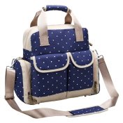 Furivy Multifunctional Baby Nappy Nappy Backpack Mummy Shoulder Bag Crossbody Bag Hand Bag Blue