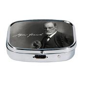 Fridolin 99385 Sigmund Freud 5.1 x 12 x 6 cm Multi-Coloured Metal Pill Box