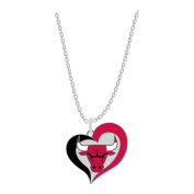 NBA Swirl Heart Necklace