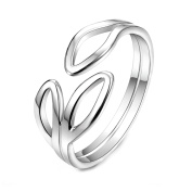 Swhite 925 Sterling Silver Open Ring