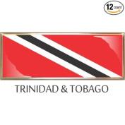Trinidad and Tobago Flag Car Auto Trunk Fender Bumper Metal Emblem Badge