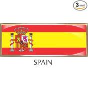 Spain Flag Car Auto Trunk Fender Bumper Metal Emblem Badge