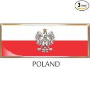 Poland Flag Car Auto Trunk Fender Bumper Metal Emblem Badge