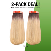 2-PACK DEAL! Model Model Human Hair Blend Weave Pose Bounce Two Tone Colour 20cm ,25cm (OT613)