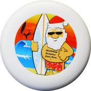"Eurodisc 175g 4.0 ORGANIC Christmas Ultimate Frisbee Disc not Discraft special scratch resistant full colour print, design Santa Clause ""Holiday Season"""